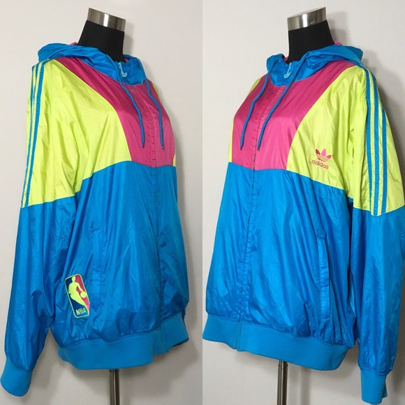Adidas Originals NBA Windbreaker Trefoil Jacket L